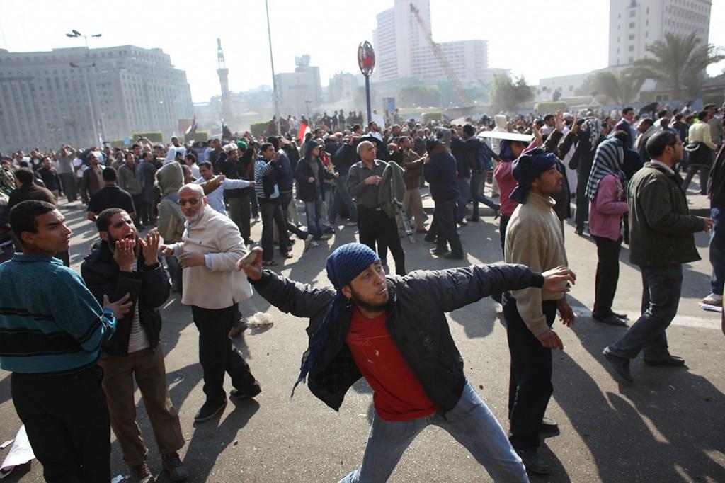 Alain Buu était présent place Tahrir en Egypte durant le printemps arabe  en Févier 2011 © Sebastien LAPEYRERE